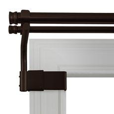 no drilling or holes in your walls window frames adjustable gripper brushed nickel window. Black Bedroom Furniture Sets. Home Design Ideas