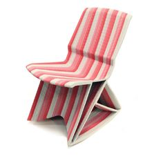 Endless Chair, 2011 by dutch furniture designer Dirk VanDer Kooij: constructed with 3D Printing from recycled plastic.