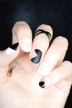 30+ Simple & Trending White Nail Design Ideas #nail