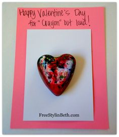 Happy Valentines Day for CRAYON out loud! Great idea for the classroom (it's not candy)!