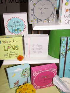 mini canvas - love these ideas!