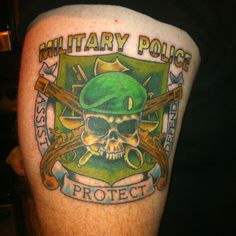 Military police (Army) tattoo
