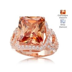 DSQ by Charles Winston 10ct Simulated Diamond Ring SS
