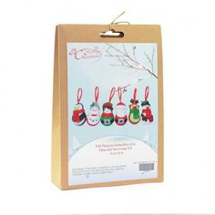 Christmas Novelty DIY Craft Kit Create a felt penguin, Santa, boy, girl, deer and snowman. Have fun creating Christmas decorations to hang around your home or to give as Craft Kits, Diy Kits, Craft Projects, Christmas Crafts, Christmas Decorations, Christmas Ornaments, Reindeer, Snowman, Fun Crafts