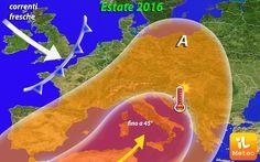 METEO Estate SHOCK, SOLE di Fuoco sull'Italia e 45° al Sud!