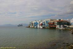Maisons sur la mer a Mykonos - Cyclades - Grece