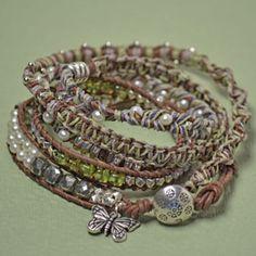 Multi-wrap knitted bracelet