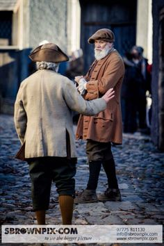 Outlander Filming - behind the scenes (Village of Cranesmuir?). The costumes look fantastic, so exciting! Pics - Steven Brown Photography, Fife.