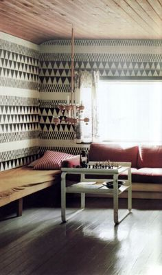 patterned wall. cool.