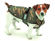 Mantel Hundemantel Regenmantel Übergangsmantel 2 in 1 camouflage 26 cm Brauntöne