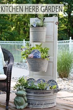 DIY Backyard or Deck Kitchen Herb Garden