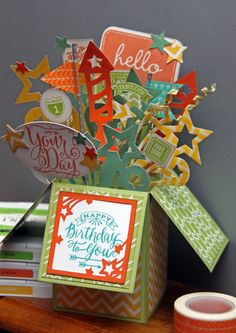Pop Up Card with most cuts made with CTMH Art Booking CRICUT cartridge and some from the CTMH Artiste CRICUT cartridge.  -  Life of a BZscrapper