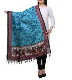 #Multicoloured Printed #Bhagalpuri #Silk #Dupatta  at #Indianroots #Diwali #Sale Was $10 | Is $7 Diwali Sale, Silk Dupatta, Anarkali Suits, Menswear, Saree, Indian, Printed, Skirts, Stuff To Buy