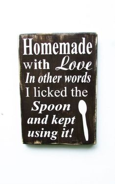 kitchen sign, hand painted wood sign, kitchen decor, funny kitchen sign, primitive home decor, wood sign, home decor, rustic home decor #diyhomedecorrustic #HomemadeHomeDecor