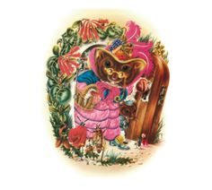 """Saffron Dormouse:  'Dormice in winter like to snooze,  Not now! Look at her party shoes'        From Aldridge's classic, """"Butterfly Ball"""""""