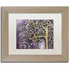 Trademark Fine Art 'My Aurora' Canvas Art by Abril Andrade, White Matte, Birch Frame, Size: 11 x 14, Assorted