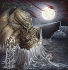 El despertar de Cthulhu by VKart.deviantart.com on @DeviantArt Cthulhu, Lord, Deviantart, Worlds Largest, Game Of Thrones Characters, Lion Sculpture, Statue, Artist, Fictional Characters