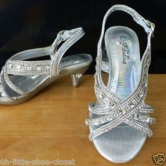 Silver Buckle Medium Pageant Crowning Dress Sandal Shoes Youth Size 13,1,2 in Clothing, Shoes & Accessories,Kids' Clothing, Shoes & Accs,Girls' Shoes | eBay
