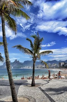 Ipanema Beach, Rio de Janeiro, Brazil travel Share and Enjoy! Places Around The World, The Places Youll Go, Travel Around The World, Places To See, Dream Vacations, Vacation Spots, Brazil Vacation, Brazil Travel, Vacation Ideas