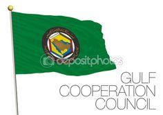 Bandiera Consiglio di cooperazione del Golfo — Vettoriali Stock © frizio…