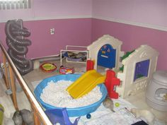 What our next ferret room is going to look like - with some additional runs along the walls.