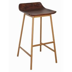 Dress up your bar or breakfast nook with this chic and charming stool.