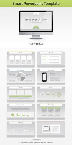 - Smart PPT -  Presentation template goes well with corporate, green, technology, IT and other themes.    Check this and more at: http://graphicriver.net/item/smart-powerpoint-template/3548547?ref=stunvisuals