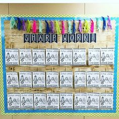 """Love this bulletin board that @cactusandcoffeeteacher just put up in her classroom using my """"Sharp Work Coming Soon"""" posters in my  Cactus Bundle! I can't wait to make a very similar one soon! #facythat #fancybulletinboard #lookingsharp"""