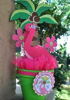 Girl Dinosaur Centerpiece by OohLalaCreation on Etsy, $25.00