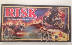 Risk The World Conquest 1993 Edition Board Game Unused Parker Bros Miniatures  #ParkerBrothers