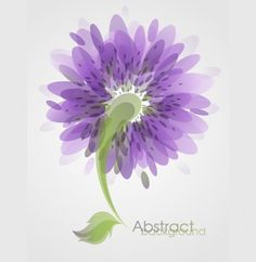 Delicate Purple Abstract Flower Vector Background - http://www.welovesolo.com/delicate-purple-abstract-flower-vector-background/