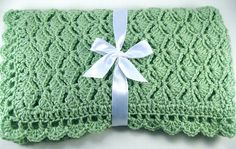 Ravelry: Nested Fans Car Seat Baby Afghan pattern by the Jewell's Handmades