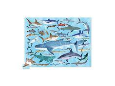 Puzzle- Žraloci /sharks 300 ks - KidTown Puzzles, Shark, Kids Rugs, Decor, Decorating, Puzzle, Kid Friendly Rugs, Riddles, Sharks