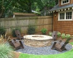 contemporary landscape by Cynthia Karegeannes, Registered Architect -- i like the stone around the fire pit.