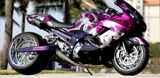 Purple Kawasaki ZX-14R..... Umm can I have please?  But obviously in like a ninja 250. <3