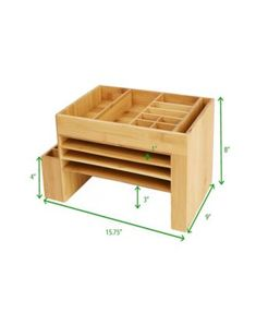 Desk File Organizer, Wood Projects, Woodworking Projects, Small Office Storage, Small Furniture, Bamboo Furniture, Furniture Movers, Wood Desk, Diy Desk