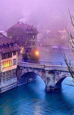 Winter morning in Switzerland