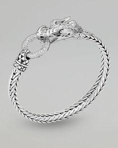 bracelets bracelets bracelets! - ShopStyle: John Hardy Naga Head Bracelet, White Topaz