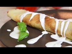 Przepyszne naleśniki ze szpinakiem, fetą i sosem czosnkowym! - YouTube
