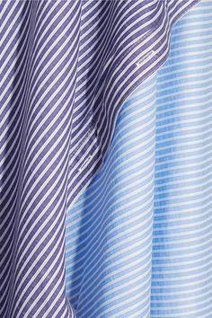 Opening Ceremony - Cody Asymmetric Striped Cotton-blend Poplin And Jersey Dress - Sky blue -