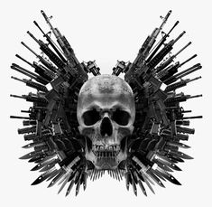 How To Create The Expendables Winged Skull Poster Art