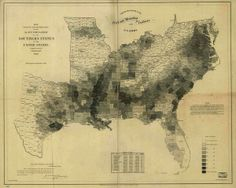 The map Lincoln used to see the reach of slavery, 1840 (% slaves per county)
