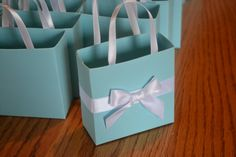 Tiffany blue party favor bags by steppnout on Etsy, $1.65