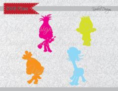 Trolls Characters Princess Poppy Movie Logo SVG Inspired Layered Cutting File Svg, Eps, Dxf, and Jpeg Format for Cricut and Silhouette