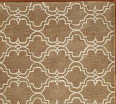 Scroll Tile Rug - Mocha | Pottery Barn