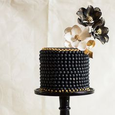 A mysterious and romantically moody black,  and gold wedding
