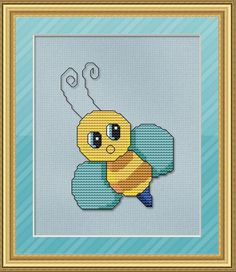 Baby Bee Cross ... by StitchX | Embroidery Pattern - Looking for your next project? You're going to love Baby Bee Cross Stitch Pattern by designer StitchX. - via @Craftsy