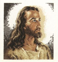 """Portrait Of Christ Counted Cross Stitch Kit-6.875""""""""X7.75"""""""" 14 Count"""