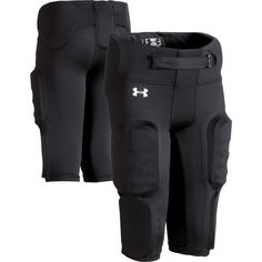 Under Armour Youth Integrated Football Pants, Kids Unisex, Size: Large, Black Youth Football Gear, Football Pads, Football Uniforms, Football Cleats, Football Players, Football Helmets, Under Armour Football, Colin Kaepernick, Leg Cuffs