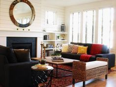 Modern Farmhouse Living Room 2 - eclectic - living room - boise - by Judith Balis Farmhouse Decor Living Room, Home Living Room, Eclectic Living Room, Modern Farmhouse Living Room, Living Room Furniture, Home Decor, Furniture Arrangement, Living Decor, Rugs In Living Room